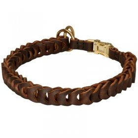Braided Choke Leather Belgian Malinois Collar