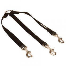 Triple Nylon Belgian Malinois Leash Coupler for Walking 3 Dogs at a Time