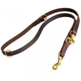 Multifunctional Leather Belgian Malinois Leash