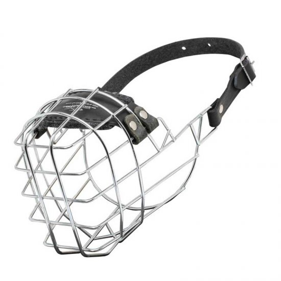 Wire Cage Belgian Malinois Muzzle With One Strap