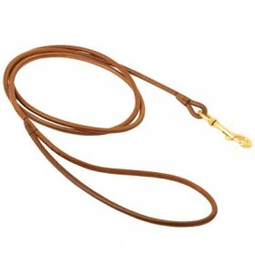 Round Leather Belgian Malinois Leash for Dog Shows
