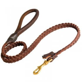 Belgian Malinois Leather Braided Dog Leash