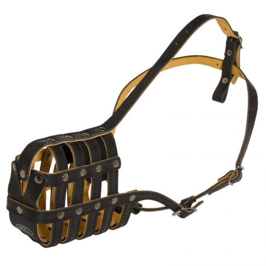 Royal Nappa Leather Basket Belgian Malinois Muzzle