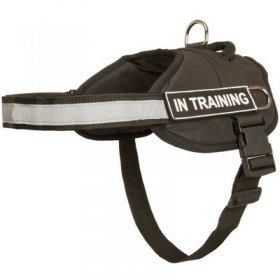 Nylon Belgian Malinois Harness with Reflective Strap for Training, Walking, Police Service, SAR and More