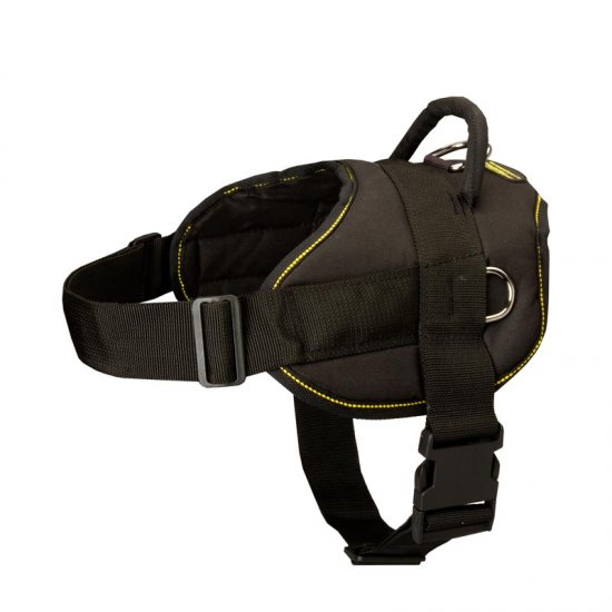 All Weather Extra Strong Nylon Belgian Malinois Harness for Tracking/Pulling
