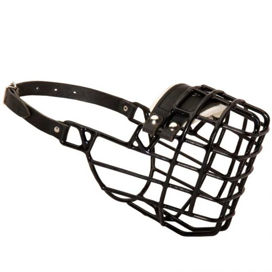 Frost-Resistant Wire Cage Belgian Malinois Muzzle with One Adjustable Strap