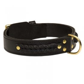 Incredible Design Belgian Malinois Braided Leather Collar