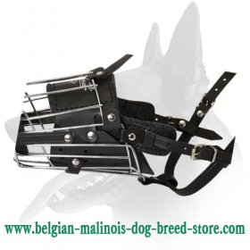 'No Mash' Basket Wire Belgian Malinois Muzzle Padded All Over
