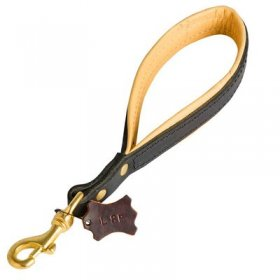 Short Leather Belgian Malinois Leash with or without Support Material