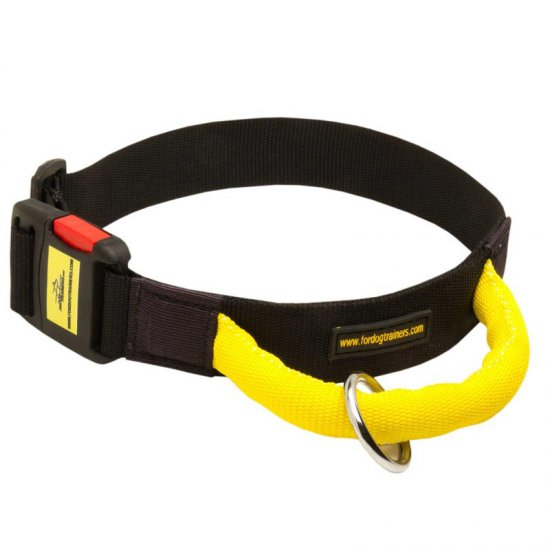 Strong Nylon Belgian Malinois Collar with Quick Release Buckle and Bright Handle