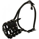 Walking and Training Leather Cage Belgian Malinois Muzzle