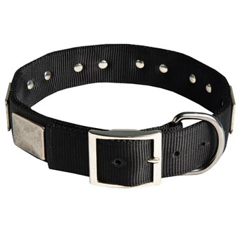 Designer Nylon Dog Collar Wide with Easy Release Buckle for   Belgian Malinois