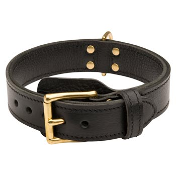Belgian Malinois  Leather Collar with Easy in Use Buckle