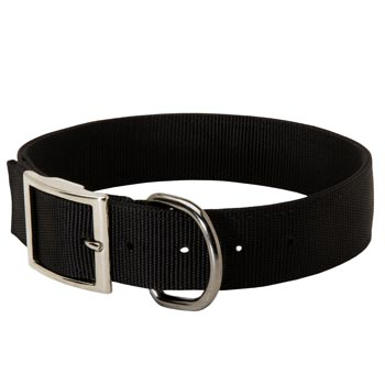 Nylon Belgian Malinois Collar with Adjustable Steel Nickel Plated Buckle