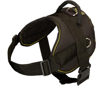 Nylon All Weather Belgian Malinois Harness for Service Dogs