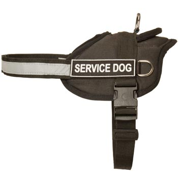 Belgian Malinois Harness Nylon with Reflective Strap