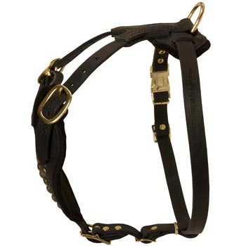 Easy Adjustable Leather Belgian Malinois Harness