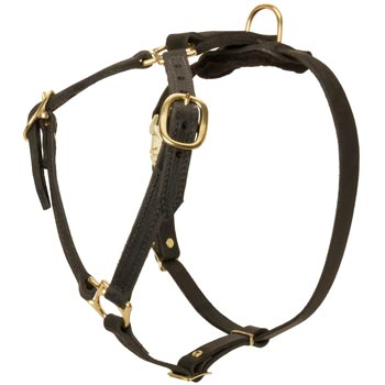 Leather Belgian Malinois Harness Lightweight Y-Shaped for Tracking Dog