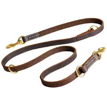 Leather Leash for Belgian Malinois Everyday Walking