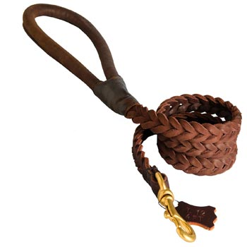Multipurpose Leather Braided Belgian Malinois Leash