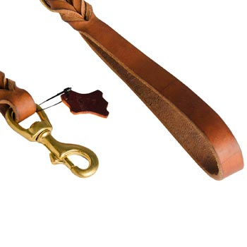 Belgian Malinois Leather Leash for Canine Service