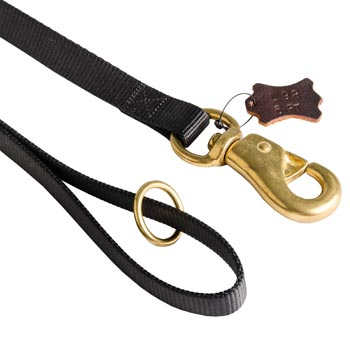 Belgian Malinois Nylon Leash with Brass O-ring and Snap Hook