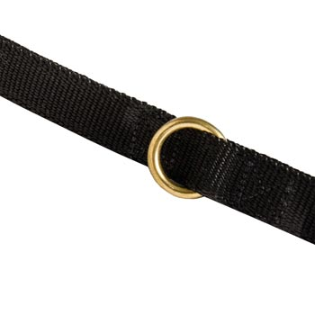 Nylon Belgian Malinois Leash Solid Brass Ring