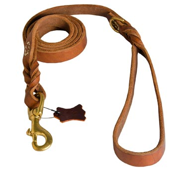 Leather Leash for Belgian Malinois Successful Schutzhund Training
