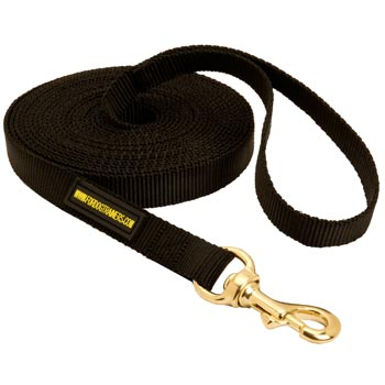 Tracking Extra Long Nylon Belgian Malinois Leash