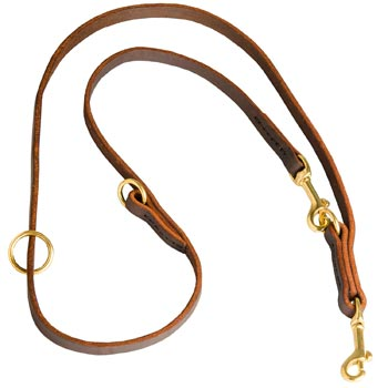 Multipurpose Leather Belgian Malinois Leash