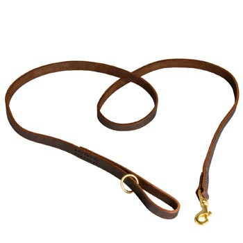 Durable Leather Belgian Malinois Leash