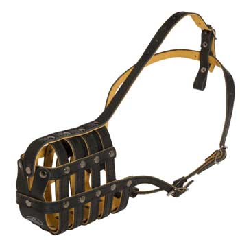 Leather Basket Belgian Malinois Muzzle