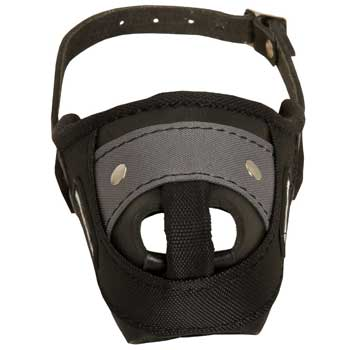 Nylon and Leather Belgian Malinois Muzzle with Steel Bar for Protection Training